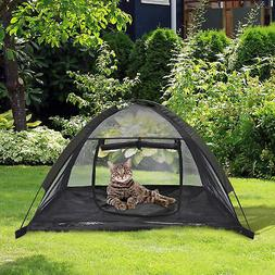 "Pawhut 35"" x 28"" Mesh Outdoor Camp Pop Up Pet / Dog Camping"