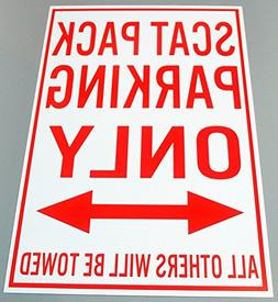 METAL STREET SIGN Scat Pack PARKING ONLY 12 X 18