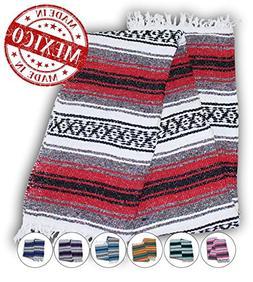 Yogi Yoga Premium Mexican Bed Blanket – Beautiful, Bright