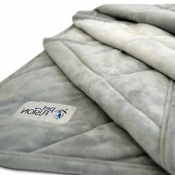 PetFusion Microplush Quilted Pet Gray Blanket