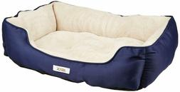 ASPCA Microtech Striped Dog Bed Cuddler, 28 by 20 by 8-Inch,