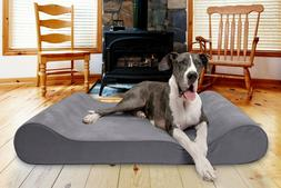 FurHaven Pet Microvelvet Luxe Lounger Contour Dog Bed