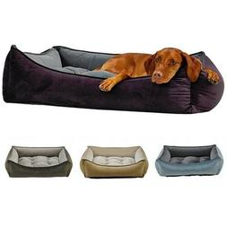 Bowsers Pet Products Microvelvet Scoop Bolstered Dog Bed —