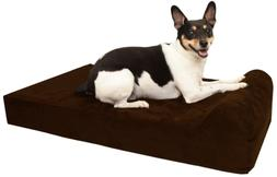 """Barker Junior - 4"""" Pillow Top Orthopedic Dog Bed with Headre"""