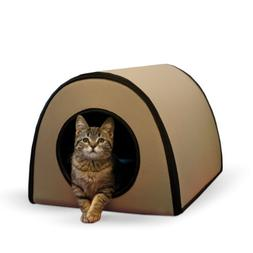 "K&H Pet Products Mod Thermo-Kitty Heated Shelter Tan 21"" x 1"