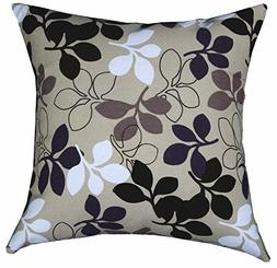 Multi-sized Both Sides Sketch Leaves Printed Cushion Cover L