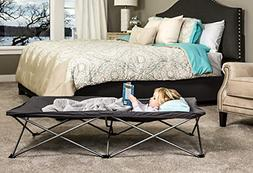 Regalo My Cot Extra Long Portable Bed, Gray, Includes Fitted