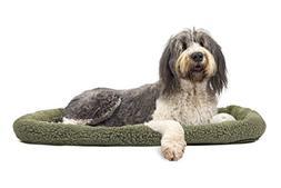 "NAP Pet Bed Berber Bolster Pet Bed, Sage, Jumbo Fits 30"" x 4"