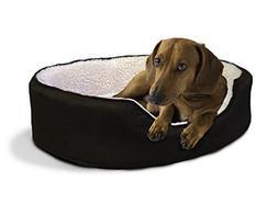 Furhaven Pet NAP Pet Bed Orthopedic Oval Egg-Crate Lounger D