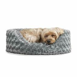 Furhaven Pet NAP Oval Ultra Plush Bed for Dog or Cat, Small,