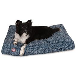 Navajo Pillow Dog Bed, Large , Navy