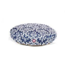 Navy Blue French Quarter Large Round Indoor Outdoor Pet Dog