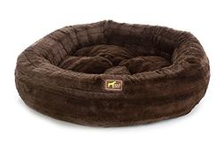 """Luca For Dogs Nest Dog Bed, Large 40""""x40""""x10"""", Chinchilla Ch"""