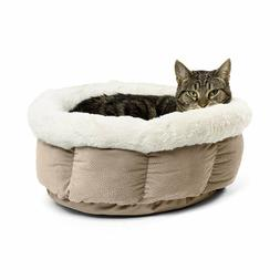 Nesting Pet Bed Small Cuddle Cup Cozy Comfortable Cat Dog Ho
