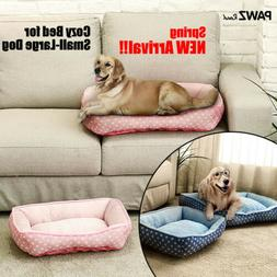 New Dog Bed Small Medium Pets Cushion Cat House Indoor Pad S