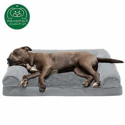 New FurHaven Large Plush & Suede Orthopedic Sofa Pet Bed for