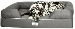 "NEW PetFusion Jumbo Dog Bed w/Solid 6"" Memory Foam, Waterpro"