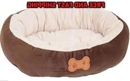 new round pet bed dog cat pad