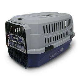 NEW American Kennel Club Travel Dog Pet Crate - blue / Gray