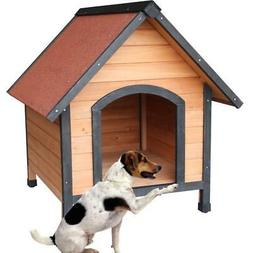 New Waterproof Large Pet Dog House Bed Wood Shelter Home Wea