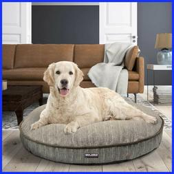 "Kirkland Signature 42"" Round Dog Pet Bed Cracked Taupe & Fa"
