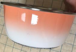 Non Skid Pet Bowl Cat Dog Stainless Steel Rubber Bottom New