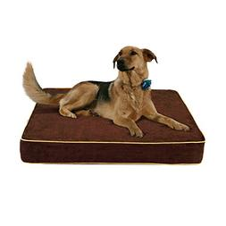Buddy Beds Non-Toxic Memory Foam Dog Bed-Brown Microfiber La