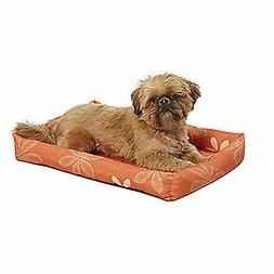 Midwest Orange Floral Paradise Dog Bed