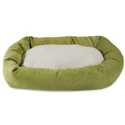 24 inch Orange Villa Collection Sherpa Bagel Dog Bed