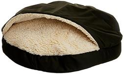 Snoozer Orthopedic Cozy Cave Pet Bed, Large, Olive