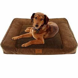 American Kennel Club Memory Foam Sofa Pet Bed, X Large, Brow