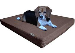 Dogbed4less Orthopedic Memory Foam Dog Bed with Durable Brow