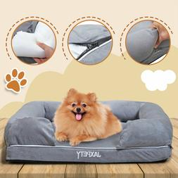 Orthopedic Dog Bed Lounge Sofa Bolster Couch w/Removable Cov