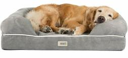 """Orthopedic Dog Bed Lounge Sofa Removable Cover 100% Suede 4"""""""
