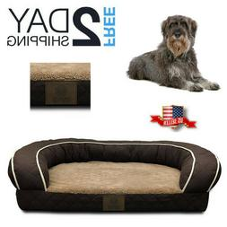 Orthopedic Dog Bed Lounge Sofa Removable Washable Large Bree