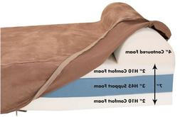 Big Barker Orthopedic Dog Bed With Headrest, Chocolate for L