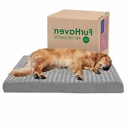 Furhaven Orthopedic Mattress Pet Bed, Jumbo, Gray for Dogs a