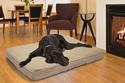 Furhaven Orthopedic Mattress Pet Bed, Jumbo, Clay, for Dogs