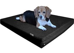 Dogbed4less Orthopedic Memory Foam Dog Bed Durable Black Can