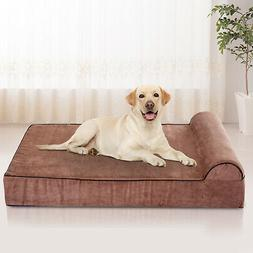 PawHut Orthopedic Memory Foam Large Dog Bed Waterproof Doubl