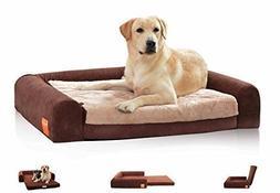 Laifug Orthopedic Memory Foam Large Dog Beds Removable Cover
