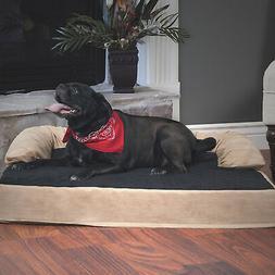 orthopedic memory foam pet bed with bolster