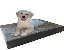 Dogbed4less Orthopedic Small Medium Memory Foam Pet Dog Bed,