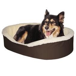 Dog Bed King Made In USA Dog Beds. Brown/Faux Lambswool  Med