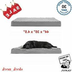 Orthopedic Pet Bed Deluxe Dog Cat Lounge Plush Cushion Foam