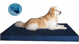 Dogbed4less Waterproof Gel Memory Foam Jumbo Pet Dog Bed Lar