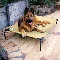 Outdoor Dog Bed Pet Elevated Cot Indoor Large Steel Raised F