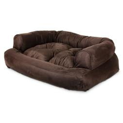 Snoozer Overstuffed Luxury Pet Sofa Small Hot Fudge