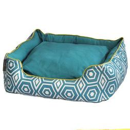 ez living home P202C28TQ Honeycomb Couch Bed, Turquoise, L