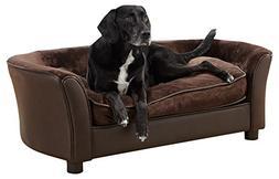 Enchanted Home Pet Panache Dog Bed, Brown, Medium